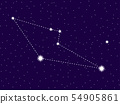 Reticulum constellation. Starry night sky. Zodiac 54905861