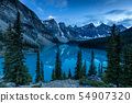 Lake Moraine in Banff National Park in Canada 54907320