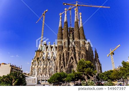 [西班牙]全景Sagrada Familia 54907397