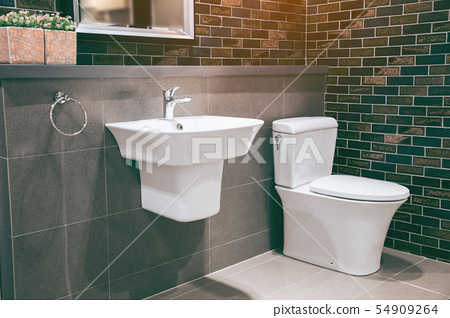 Modern spacious bathroom 54909264
