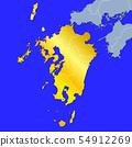 九州地图 54912269