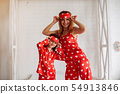 Cute mother and daughter at home in a pajamas 54913846