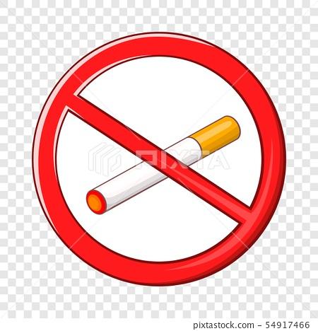 No smoking sign icon, cartoon style 54917466