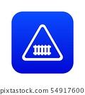 Crossing railroad barrier icon blue vector 54917600
