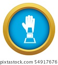 Baseball glove award icon blue vector isolated 54917676