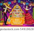 Mexican Day of Dead skeletons, altar, sugar skulls 54919028