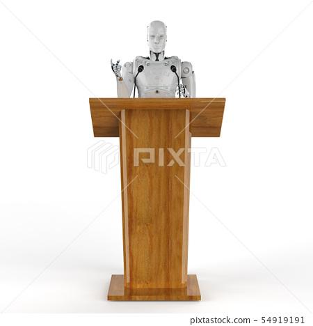 robotic public speaker 54919191