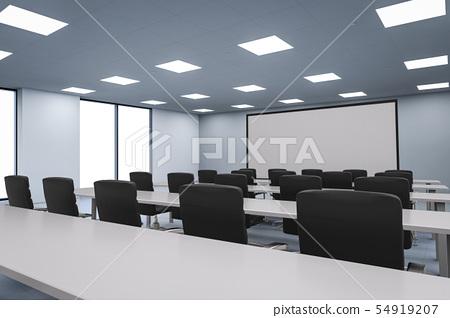empty seminar room 54919207