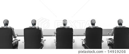 cyborgs sitting in a row 54919208