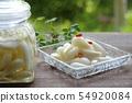 염교 절임 염교의 단 식초 절임 보존 식 54920084