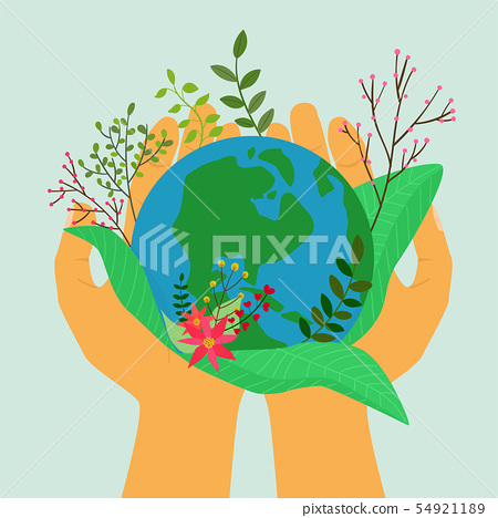 Save the earth,Hands holding planet earth 54921189