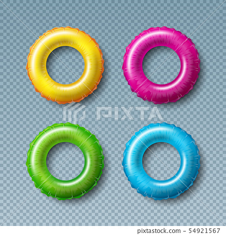 Vector Illustration with Colorful Float Collection Isolated on Transparent Background. Vector 54921567