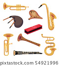 Set of traditional and classic perfume instruments. Vector illustration on white background. 54921996