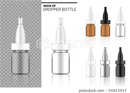 Medicine Bottle Mock up Realistic transparent 54923937
