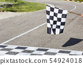 The finish line and checkered flag racing. finish 54924018