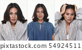 woman black hair stand fashion posing in Casual 54924511