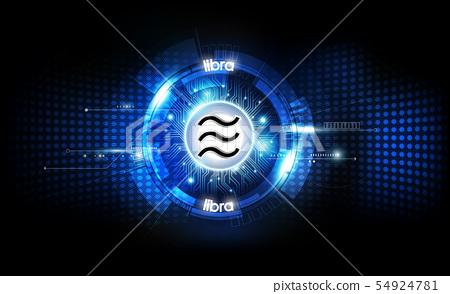 Libra digital currency, futuristic digital money 54924781