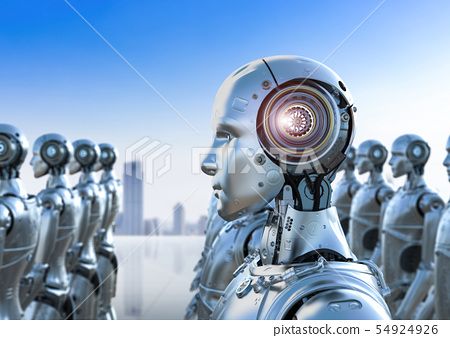 group of robots 54924926