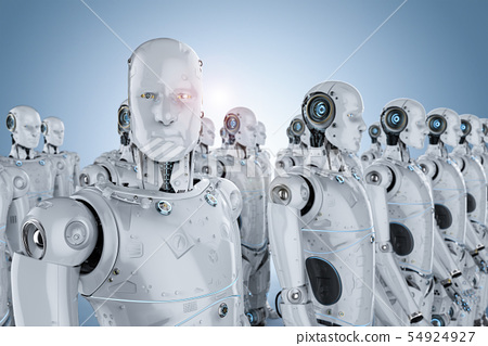 group of robots 54924927