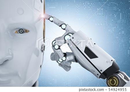 robot thinking or computing 54924955