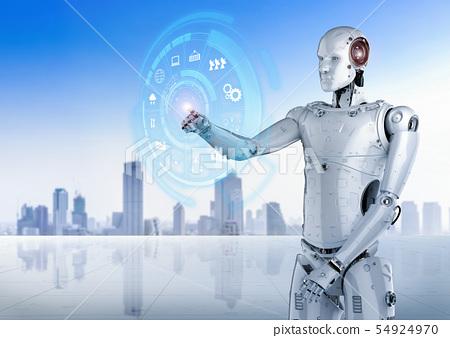 robot with hud display 54924970