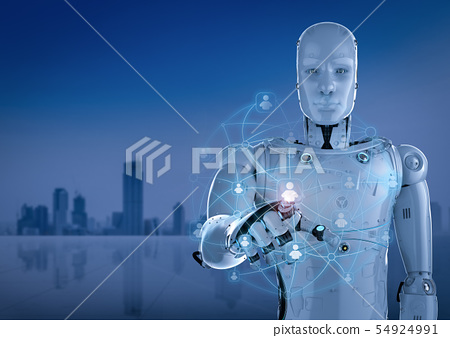 robot with social network 54924991