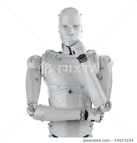 humanoid robot thinking 54925034