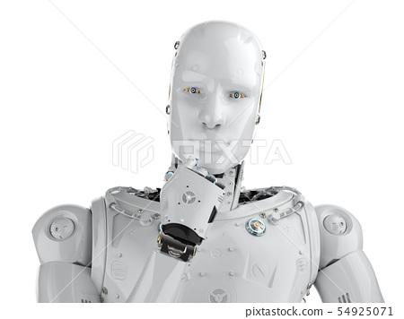humanoid robot thinking 54925071