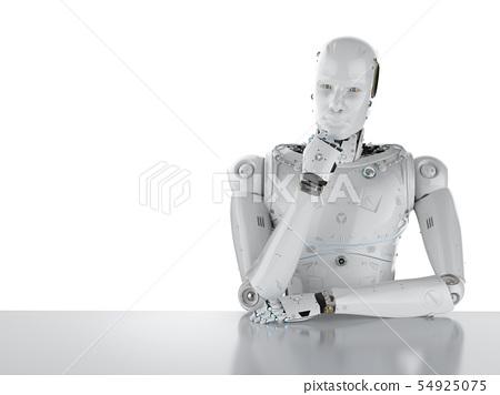humanoid robot thinking 54925075
