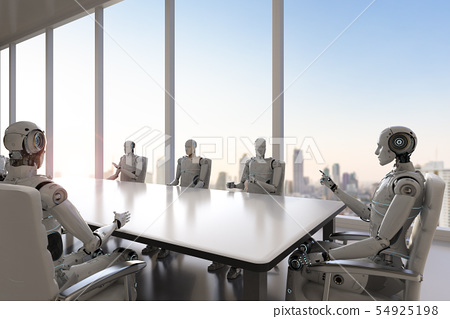 robot in conference room 54925198