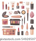 Cosmetic beauty make up cosmetology for beautiful woman with makeup foundation powder or eyeshadow 54926507