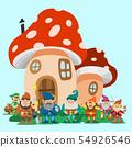 Fairy tale fantastic gnome dwarf elf character poses magical leprechaun cute fairy tale man 54926546