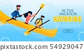 Entertaining Flyer Active Vacation Kayaking Flat. 54929047