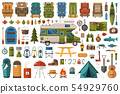 Hiking and Camping Flat Icons Wanderlust Collection 54929760