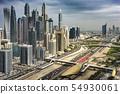 Traffic in the Big Metropolis, Dubai, UAE 54930061