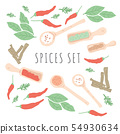 Doodle herbs and spices concept design. 54930634