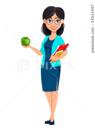 Back to school. Teacher woman cartoon character 54932097