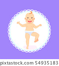 Baby Milestones, Period from 1 to 12 Month Newborn 54935183