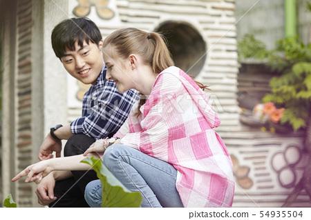 커플,연애,데이트,여행,관광,한옥,한국전통,북촌한옥마을,북촌,종로구,서울  54935504