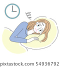 Woman illustration sleeplessness sleepless 54936792
