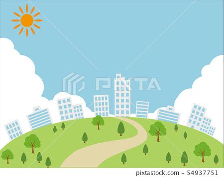 建築城市景觀 54937751