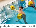 Young woman in aquarobics class 54939534