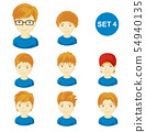 Cute ginger little boys with various hairstyles. 54940135