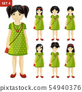 Collection of cute little girls. 54940376