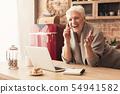 kitchen, female, smartphone 54941582