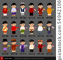 Asian boys in national dress. 54942106