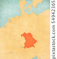 Map of Germany - Bavaria 54942365