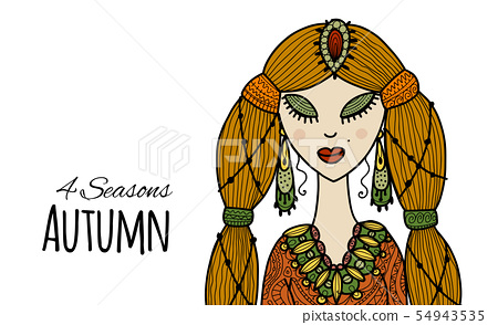 Female beauty, autumn style for your design 54943535