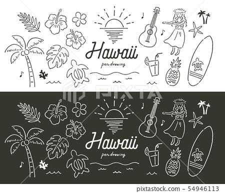 하와이 남국 그린 다양한 54946113