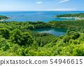 【Akita Prefecture Oga Peninsula】 Ninomiyagata, Toga Bay, and the Sea of Japan from the Happodai 54946615